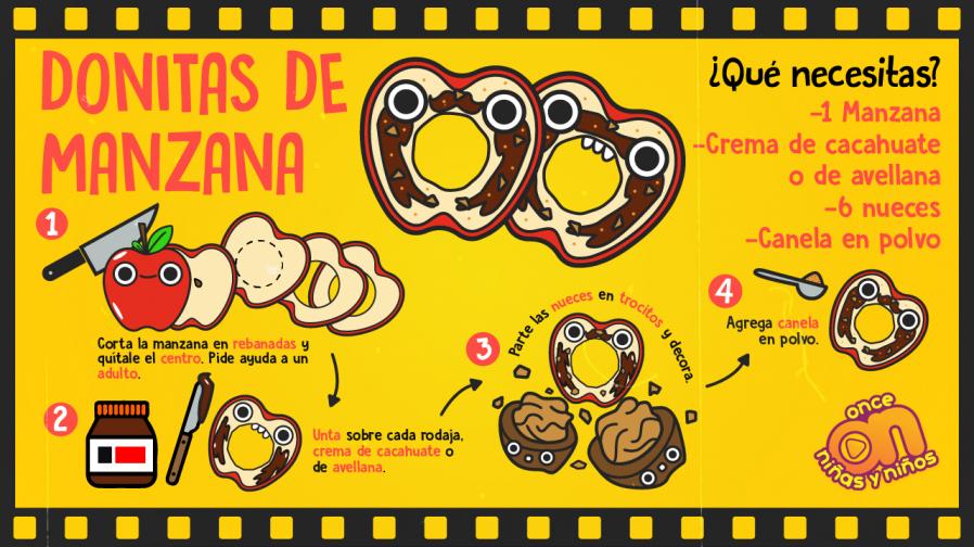 Cine-ONN-Recetas-Donitas-de-manzana