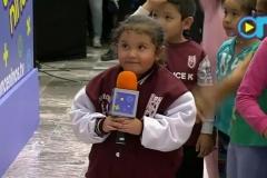 Las niñas y niños tomaron el micrófono y nos contaron cuáles son sus palabras favoritas y por qué