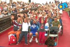 Así los recibieron las niñas y los niños que se dieron cita en la FIL Minería