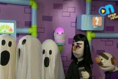 Los fantamas también visitaron a Nora y Staff en el Estudio de Once Niños