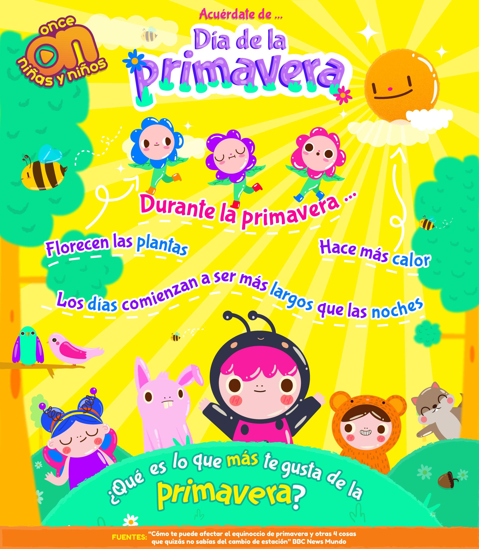 Día de la Primavera  Once Niñas y Niños