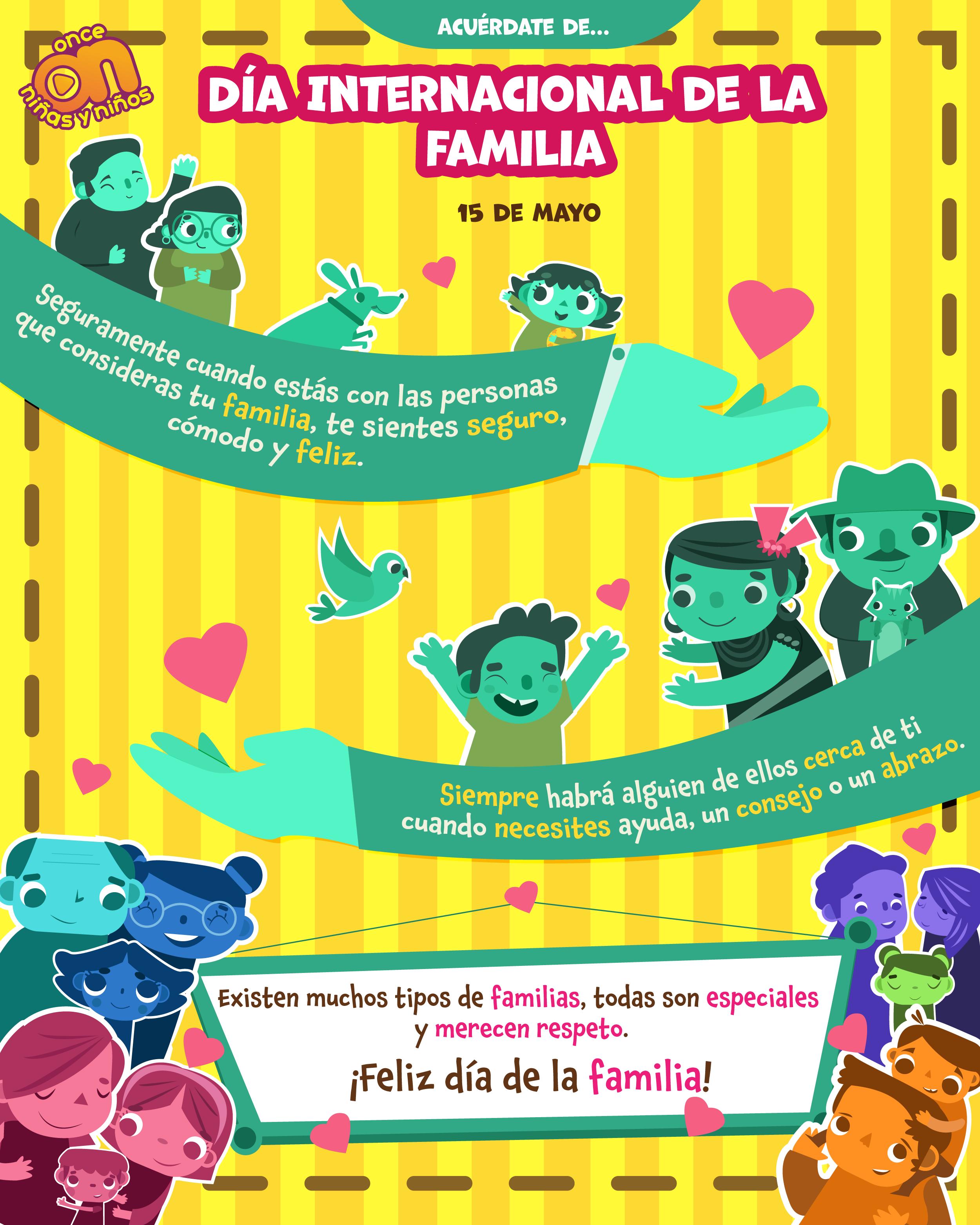 Día Internacional de la familia Once Niñas y Niños