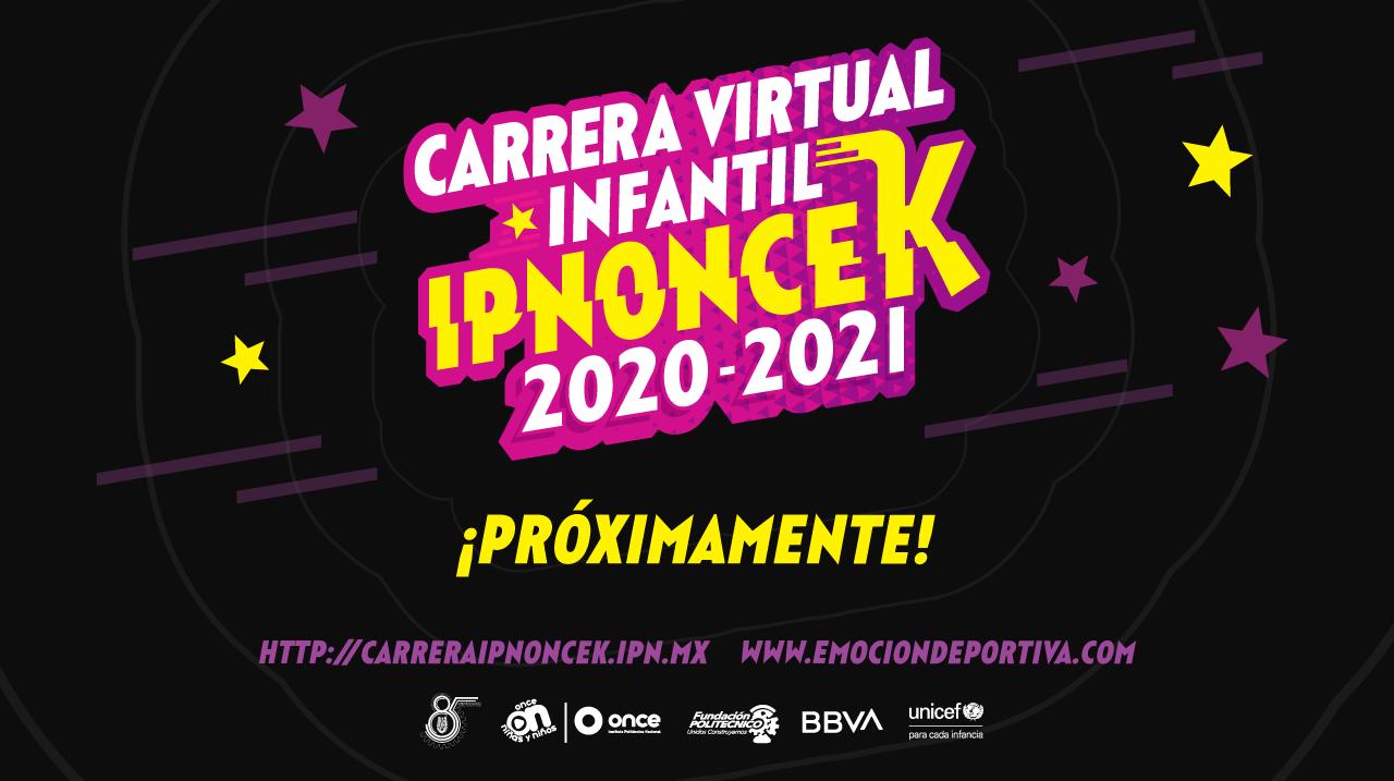 Carrera virtual infantil IPNOnceK 2020- 2021